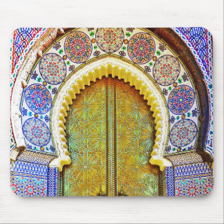 Exquisitely Detailed Moroccan Pattern Door Mouse Pad