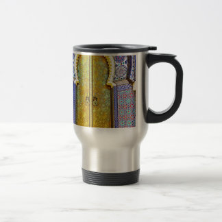 Exquisitely Detailed Moroccan Pattern Door 15 Oz Stainless Steel Travel Mug