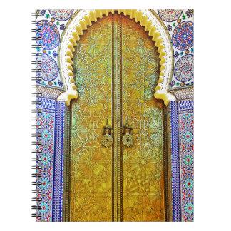 Exquisitely Detailed Moroccan Pattern Door Notebooks