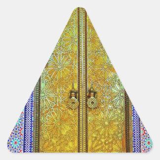 Exquisitely Detailed Moroccan Pattern Door Triangle Sticker