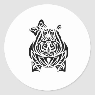 Exquisitely Playful Tribal Tattoos Classic Round Sticker
