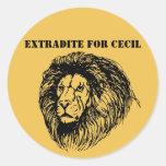 Exradite para Cecil Pegatina Redonda