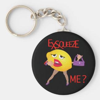 'exsqueeze me?' funny lemon humorous Keychain