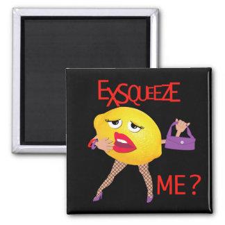 'exsqueeze me?' funny lemon humorous Magnet