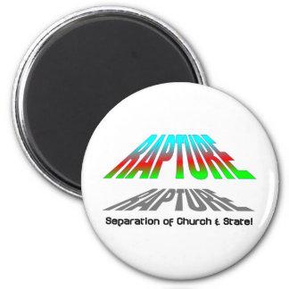 Éxtasis cristiano de la separación de iglesia y e iman de nevera
