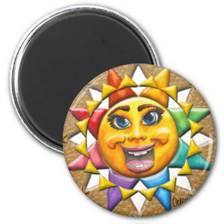 Extatic Sun Face Beveled Magnet