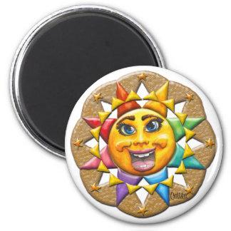 Extatic Sun Face Magnet