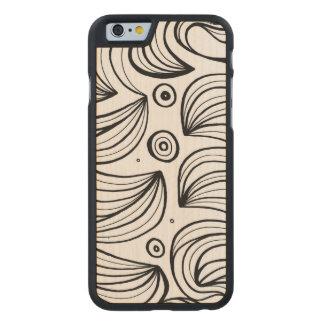 Extático sincero vibrante del wow funda de iPhone 6 carved® slim de arce