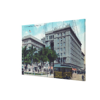 Exteior View of the US Grant Hotel Canvas Print