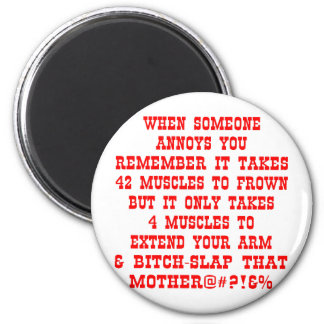 Extend Your Arm & Bitch-Slap That Mother 2 Inch Round Magnet