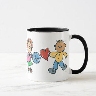 Extended Hands of Peace and Love Mug