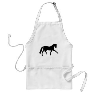 Extended Trot Dressage Horse (black) Adult Apron