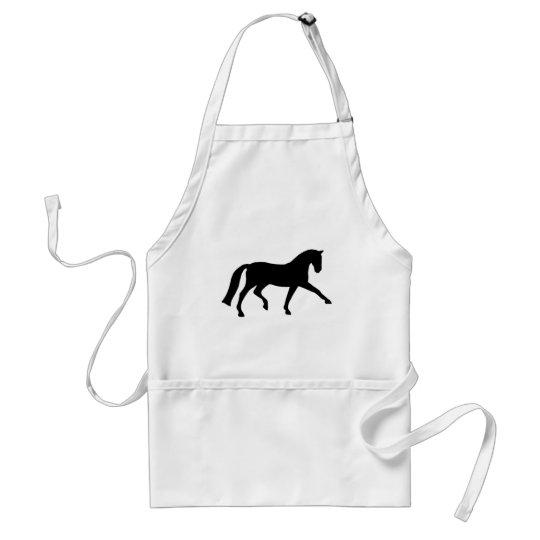 Extended Trot Dressage Horse (black) Adult Apron