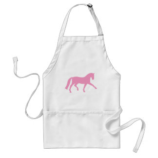 Extended Trot Dressage Horse (pink) Adult Apron