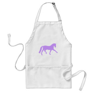Extended Trot Dressage Horse (purple) Adult Apron