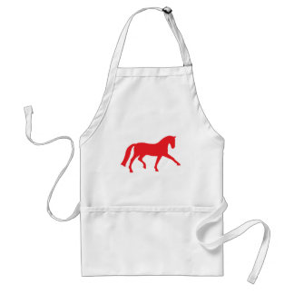Extended Trot Dressage Horse red Apron