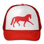 Extended Trot Dressage Horse (red) Hats