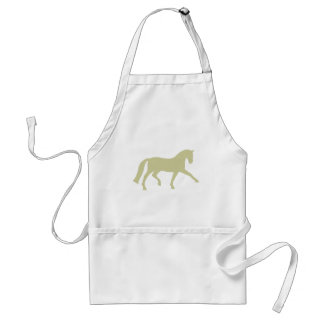 Extended Trot Dressage Horse sage green Aprons