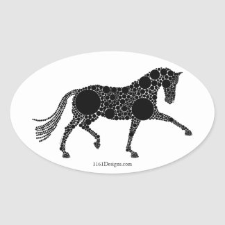 Extended Trot Silhouette stickers