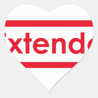 extendo heart sticker