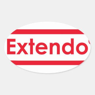 extendo oval sticker