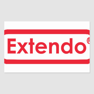 extendo rectangular sticker