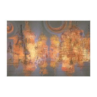 Extensión - ciudad brillante de oro del sueño impresiones de lienzo