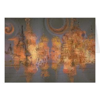 Extensión - ciudad brillante de oro del sueño tarjeta de felicitación
