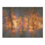 Extensión - ciudad brillante de oro del sueño tarjetas postales
