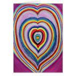 Extensión de los corazones del amor tarjetas