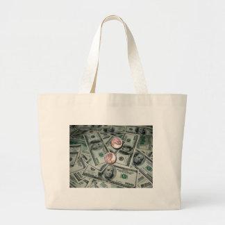 Extensión del dinero y de dos centavos bolsa