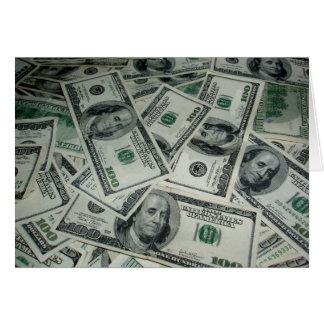 Extensión del dinero y de dos centavos tarjeta de felicitación