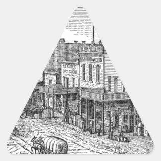 Extensión occidental en la frontera América Pegatina Triangular