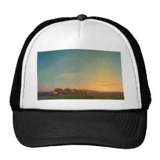 Extensive scenery of settlement person trucker hats