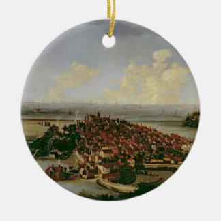 Extensive view of Rye Ceramic Ornament