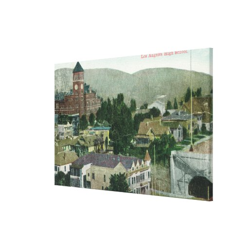 Exterior Aerial View of Los Angeles High Gallery Wrapped Canvas
