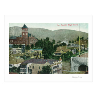 Exterior Aerial View of Los Angeles High Post Cards