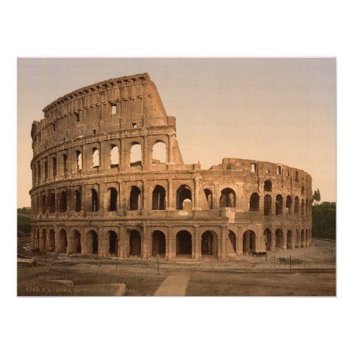 Exterior Colosseum, Rome, Italy Archival print