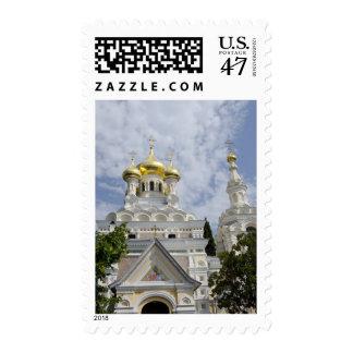 Exterior de la catedral 2 de Alexander Nevsky del Timbres Postales