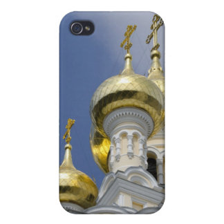 Exterior de la catedral 3 de Alexander Nevsky del  iPhone 4 Funda