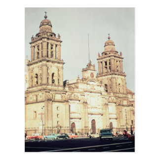 Exterior de la catedral de Ciudad de México Postal