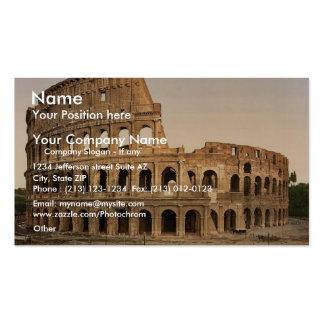 Exterior del coliseo, obra clásica Phot de Roma, I Tarjeta De Visita