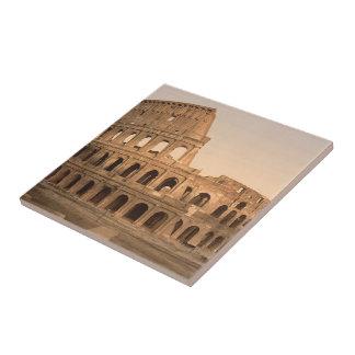 Exterior del Colosseum, Roma, Italia Azulejo Cuadrado Pequeño