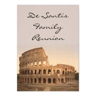"""Exterior del Colosseum, Roma, Italia Invitación 5"""" X 7"""""""