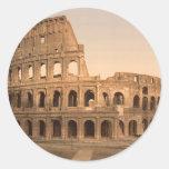 Exterior del Colosseum, Roma, Italia Pegatina Redonda