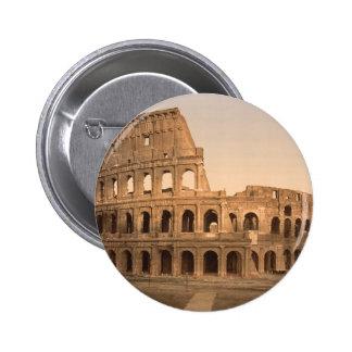 Exterior del Colosseum, Roma, Italia Pin Redondo De 2 Pulgadas