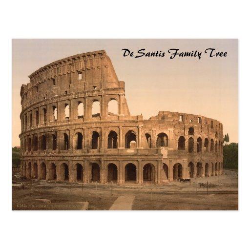 Exterior del Colosseum, Roma, Italia Postal