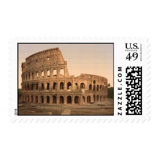 Exterior del Colosseum, Roma, Italia Timbres Postales