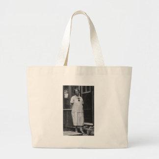 exterior derecho de la señora de los años 20 del e bolsa tela grande