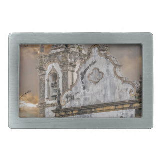 Exterior Facade Antique Colonial Church Olinda Rectangular Belt Buckle